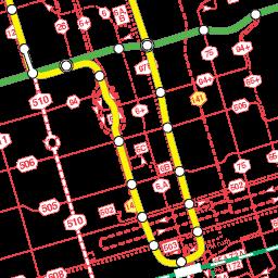 Toronto transit map TTC GO Transit VIVA etc all on one Google map